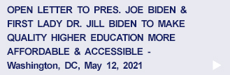 Open Letter to the Bidens re. Higher Education